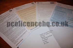 PCO Licence Application Forms